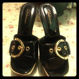 Delicious black and gold shoes